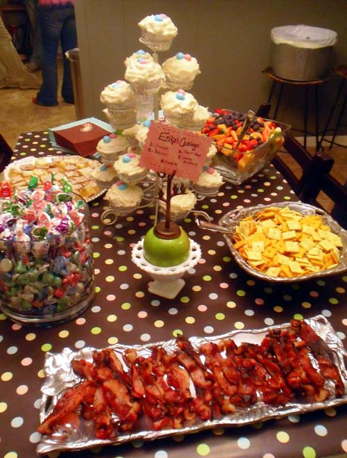 Baby Gender Reveal Party Menu