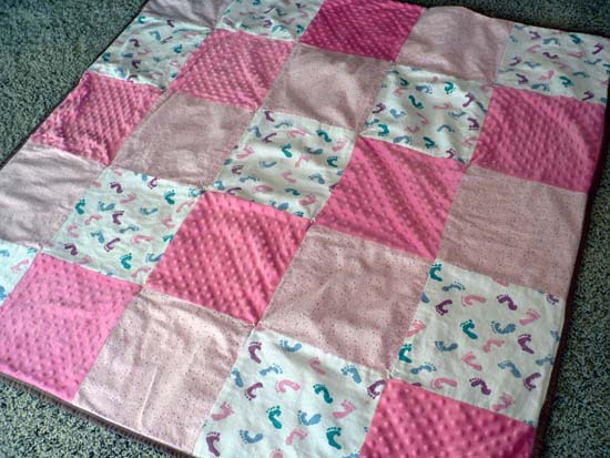 A Custom Baby Blanket Quilt For Reese SnugasaBugBaby