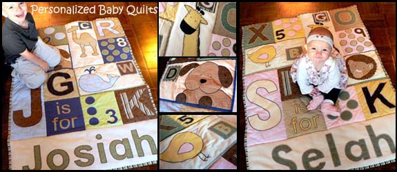 Personalized Baby Blanket Quilts Snugasabugbaby