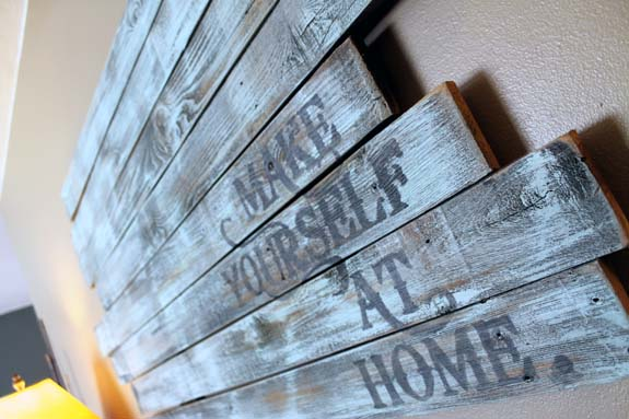 Repurposed Fence Post Wall Art