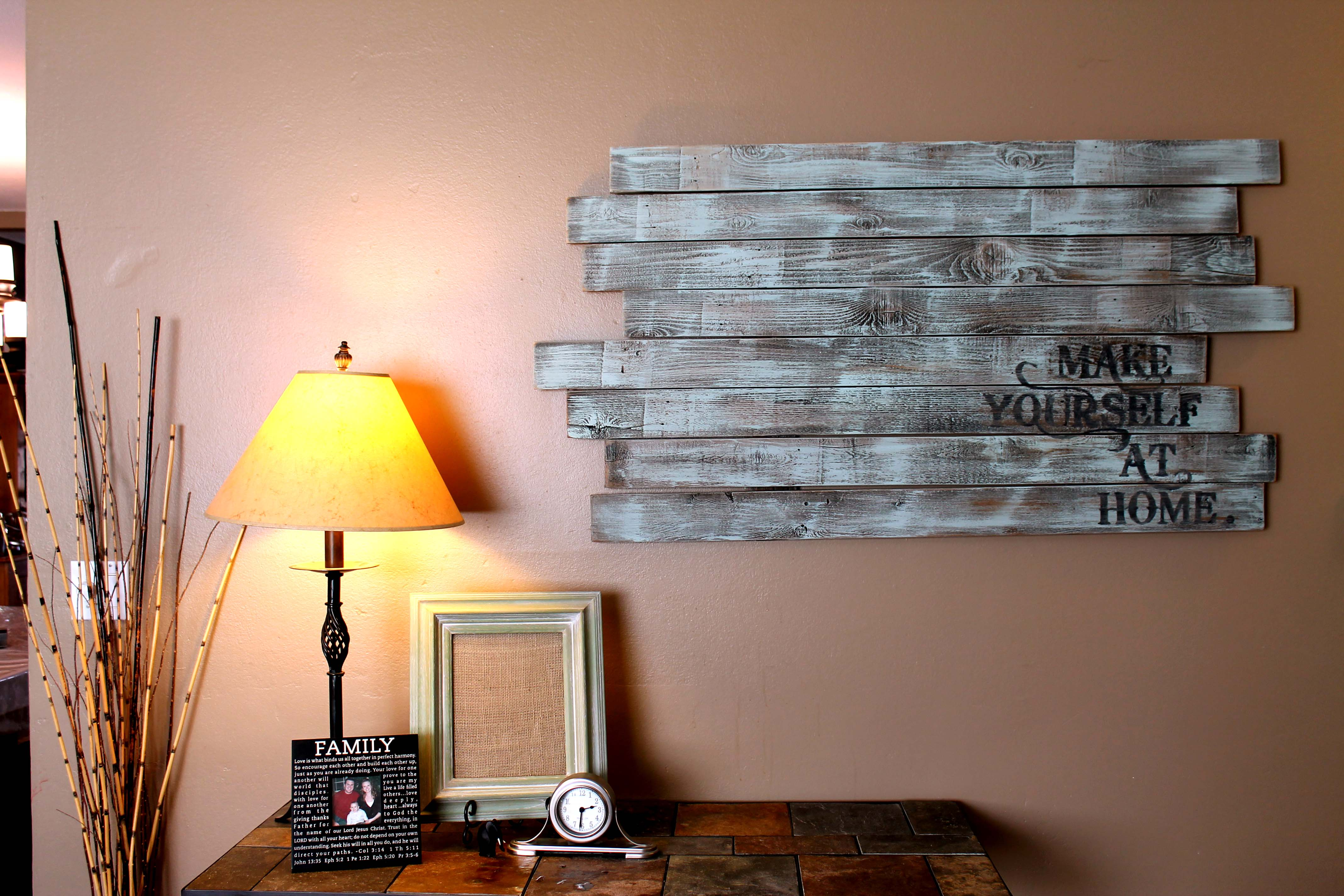 Repurposed fence post wall art snugasabugbaby Cool wall signs