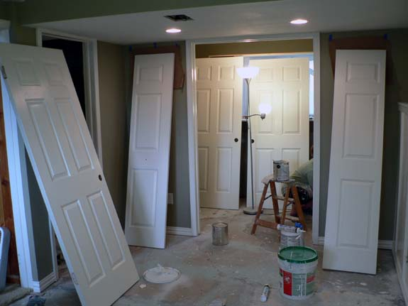 how to paint french doors. Black Bedroom Furniture Sets. Home Design Ideas